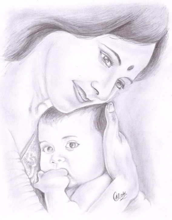 Wonderful Best Love Sketches Step by Step Mother's Love - Sketching By Alok Kumar In My Sketches At Photos
