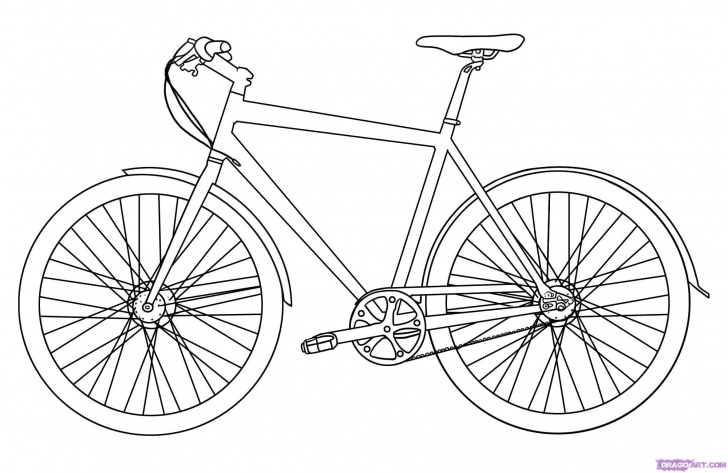 Wonderful Bicycle Pencil Drawing Techniques for Beginners Large Image - Step 5. How To Draw A Bike | Art Lessons: How To In Picture