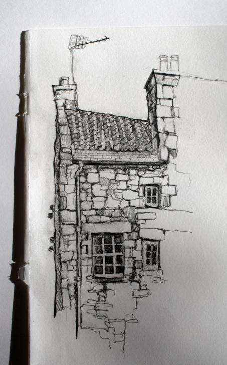 Wonderful Building Pencil Sketch Tutorials Sketch Of Building In Dean Village, Edinburgh By Aileen Mcgibbon Picture