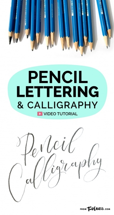 Wonderful Calligraphy Using Pencil Techniques Pencil Lettering And Calligraphy — Twoeasels Image
