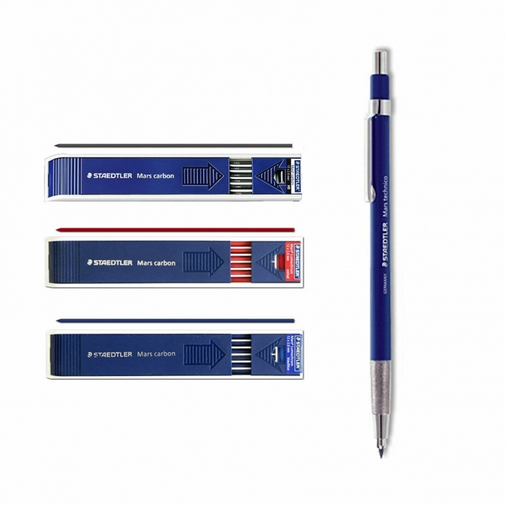 Wonderful Carbon Pencil Lead Free Staedtler Mars Carbon 2Mm Drafting Pencil Lead Refill Hb Red Blue 780C Set Picture