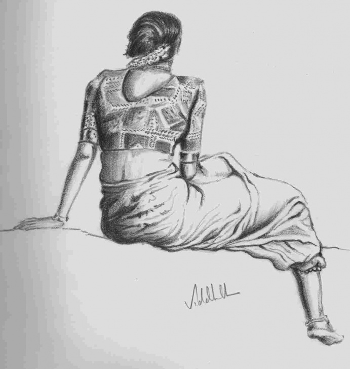 Wonderful Classical Dance Pencil Drawing Techniques Kathak Dance Pencil Drawing Image