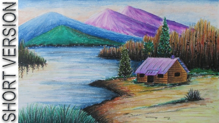 Wonderful Colour Pencil Drawing Landscape Techniques for Beginners Drawing Of Landscape Scenery And Color Pencil Drawings Landscape Pics
