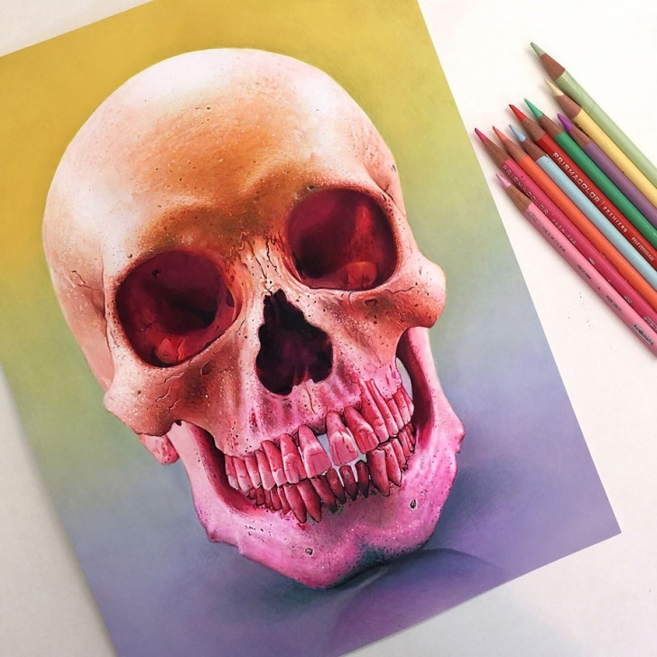 Wonderful Cool Colored Pencil Drawings Simple 22-Year-Old Artist Creates Hyper-Realistic Pencil Drawings Bursting Photo