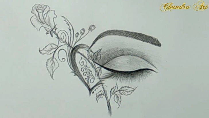 Wonderful Cool Drawings Pencil Simple Cool Drawings - Pencil Drawing A Beautiful Eye #easy Pictures