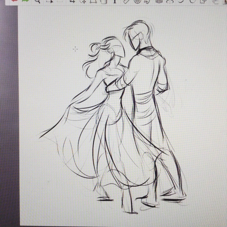 Wonderful Dancing Couple Sketch Tutorial Ballroom Dance Reference | Art | Drawings, Art Drawings, Dancing Pics