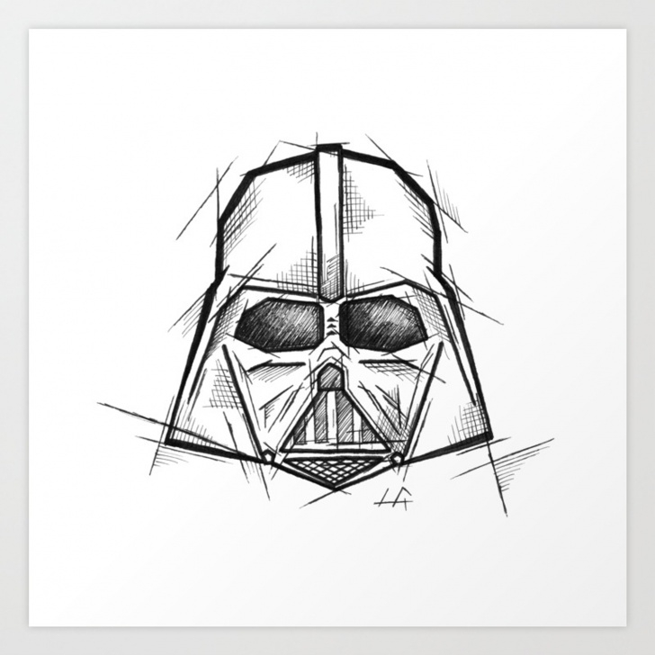 Wonderful Darth Vader Pencil Drawing Lessons Darth Vader Handmade Drawing, Made In Pencil, Charcoal And Ink, Tattoo  Sketch, Tattoo Flash, Sketch Art Print Pictures
