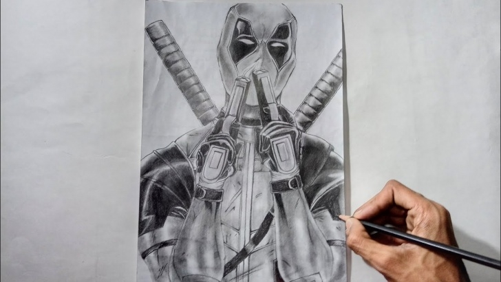 Wonderful Deadpool Pencil Sketch Tutorials Drawing Deadpool With Pencil - Speed Draw | Deadpool 2 Pictures