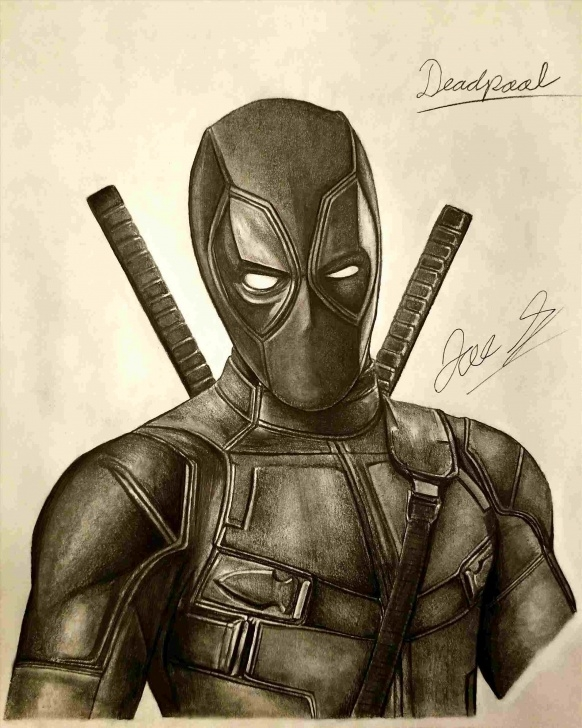 Wonderful Deadpool Pencil Sketch Tutorials Pencil Deadpool Drawing In Pencil Sketch Of Deadpool Drawing Art Picture
