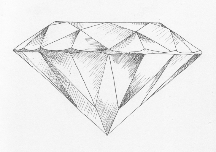 Wonderful Diamond Pencil Drawing Free Diamonds | Mylab | Drawings, Art, Diamond Sketch Pics
