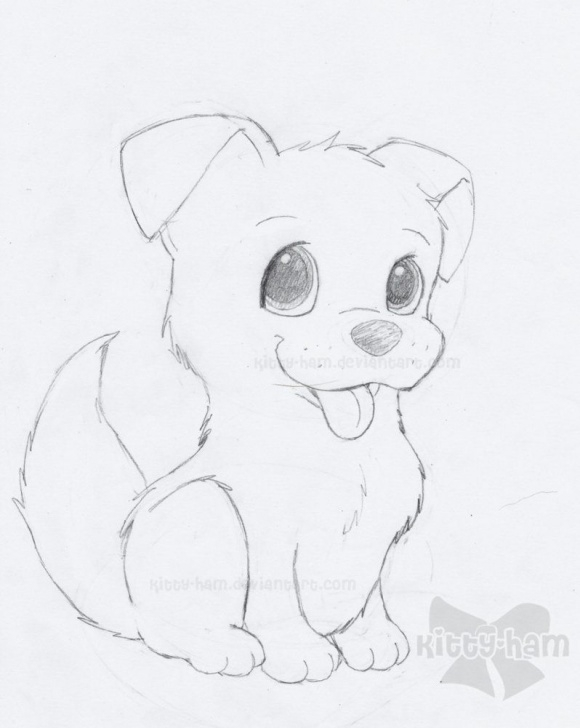 Wonderful Dog Simple Pencil Drawing Step by Step Drawings Of Puppies | Puppy Sketch By Kitty-Ham | B-Day Presents Images