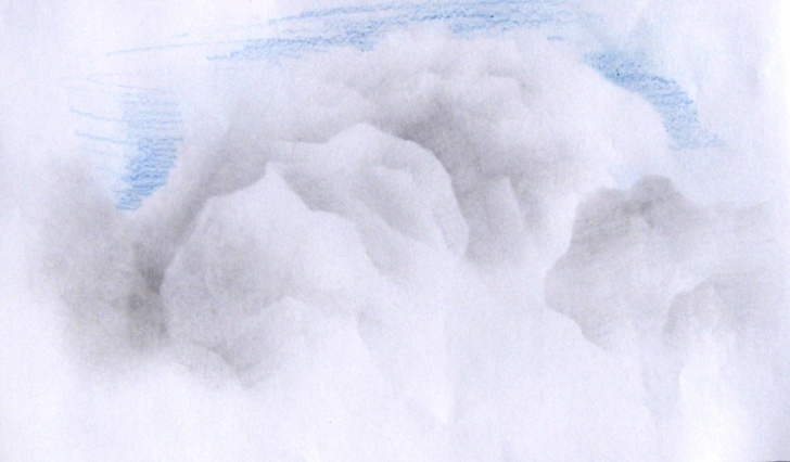 Wonderful Drawing Clouds With Colored Pencils Techniques Drawing Realistic Clouds « Archidrawing Photos