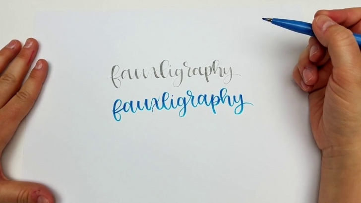 Wonderful Easy Calligraphy With Pencil Free Calligraphy With A Pencil! How To Create Hand Lettering With Just A Pencil! Images