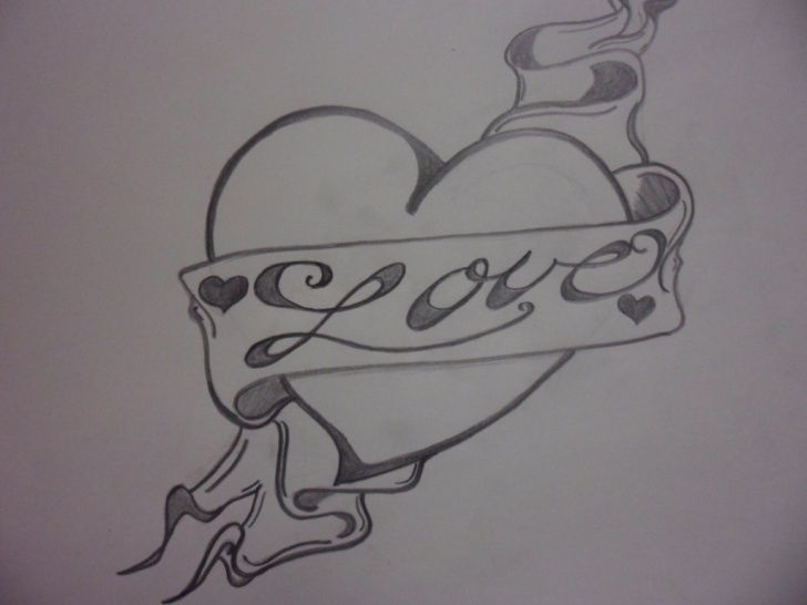Wonderful Easy Pencil Sketch Love Drawing Simple Free I Love You Drawings In Pencil With Heart, Download Free Clip Pic