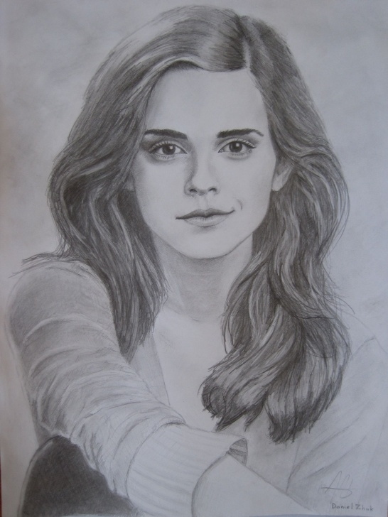 Emma Watson Pencil Sketch
