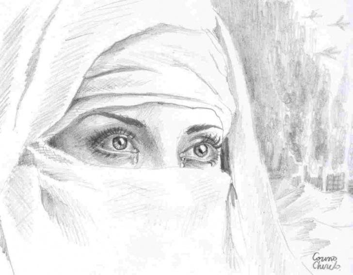 Wonderful Environment Pencil Drawing Easy Pencil Desert Drawing | Drawing Work Photo