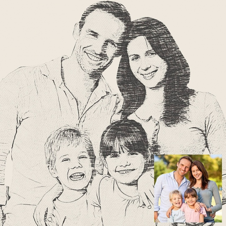 Wonderful Family Sketches With Pencil Easy Family Photo Sketch At Paintingvalley | Explore Collection Of Images