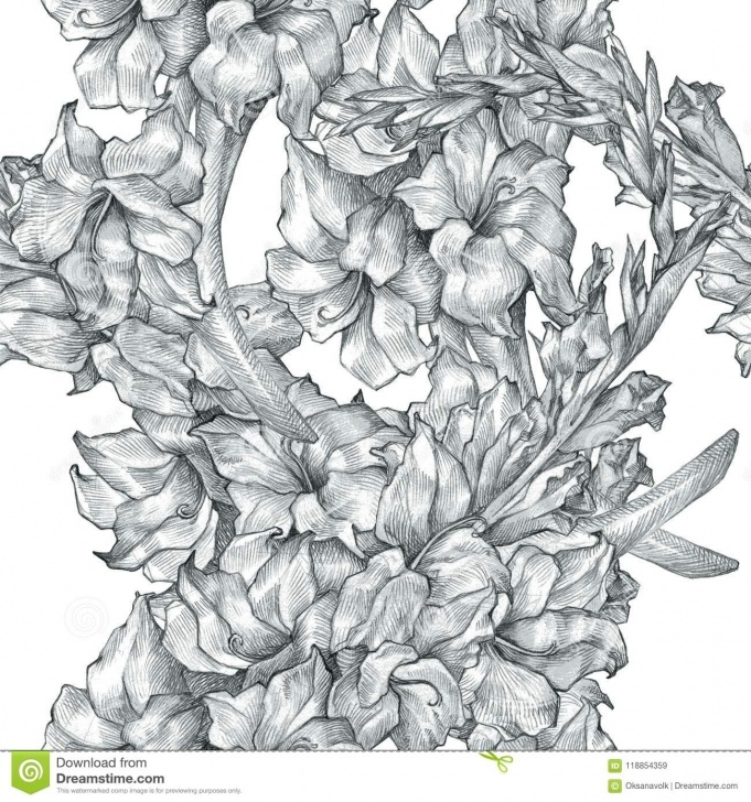 Wonderful Floral Pencil Drawings Tutorial Botanical Floral Flower Pencil Drawing Sketch Seamless Ornate Images