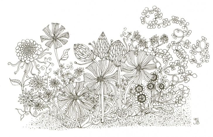 Wonderful Flower Garden Drawing Pencil Step by Step Unusual Flower Garden Sketch On Garden Inspiration | Photoshop Ii Photo