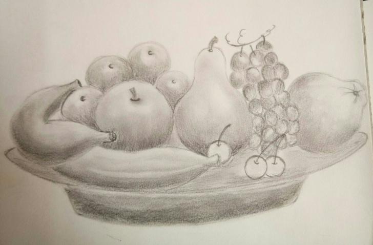 Wonderful Fruit Basket Pencil Shading for Beginners Fruit Basket #pencil Shading | Artative In 2019 | Pencil Shading Photos