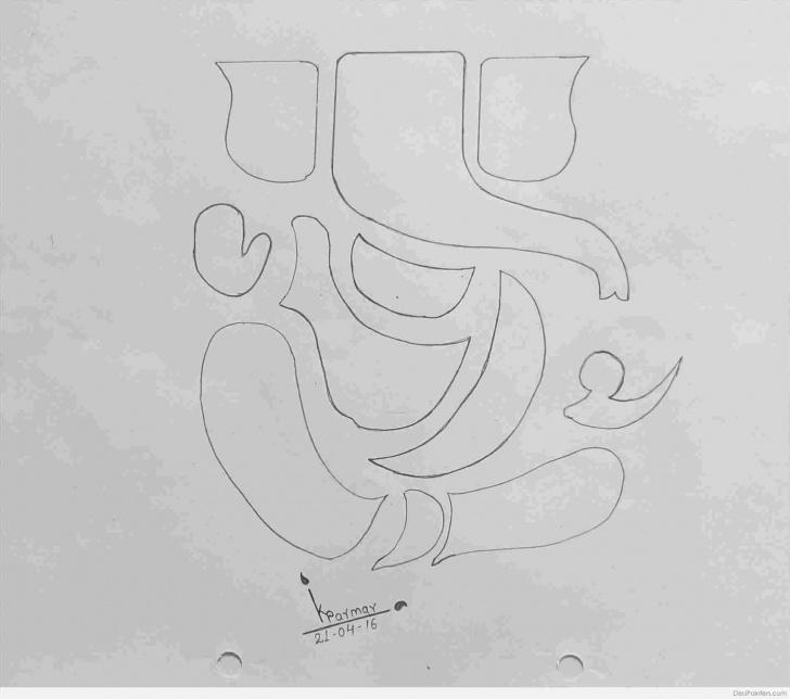 Wonderful Ganesh Ji Pencil Sketch Step by Step Pencil Sketch Ganpati Pictures