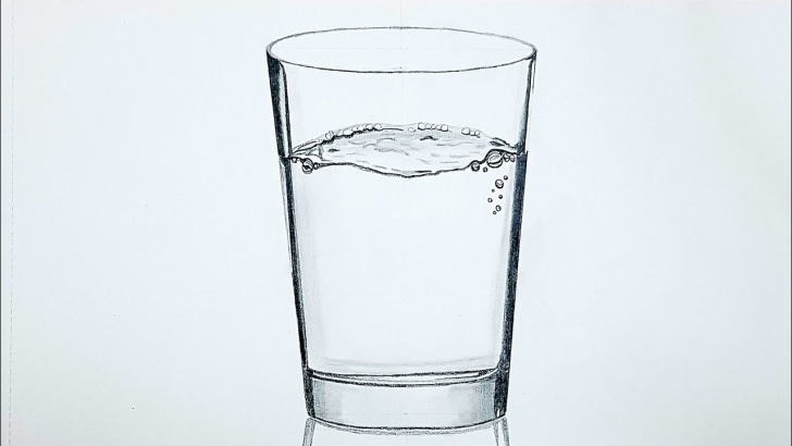 Wonderful Glass Pencil Sketch for Beginners How To Draw A Glass Of Water - Realistic Pencil Drawing Technique Time-Lapse Image