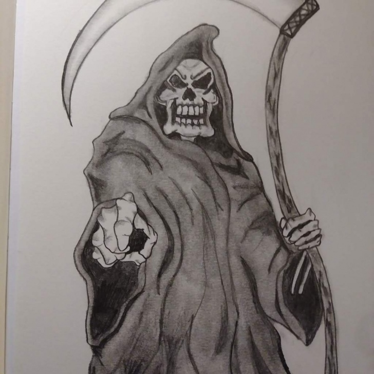 Wonderful Grim Reaper Drawings In Pencil Tutorial Grim Reaper Pencil Drawings At Paintingvalley | Explore Pictures