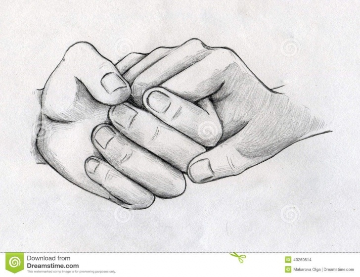 Wonderful Hand Pencil Sketch Courses Images For > Pencil Drawing Of Couple Holding Hands | Drawing Image