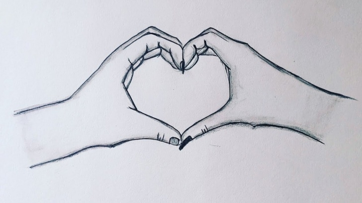 Wonderful Heart Pencil Art Ideas How To Draw Heart Hands Making Heart❤||Holding Hands Pencil Sketch|| Pic