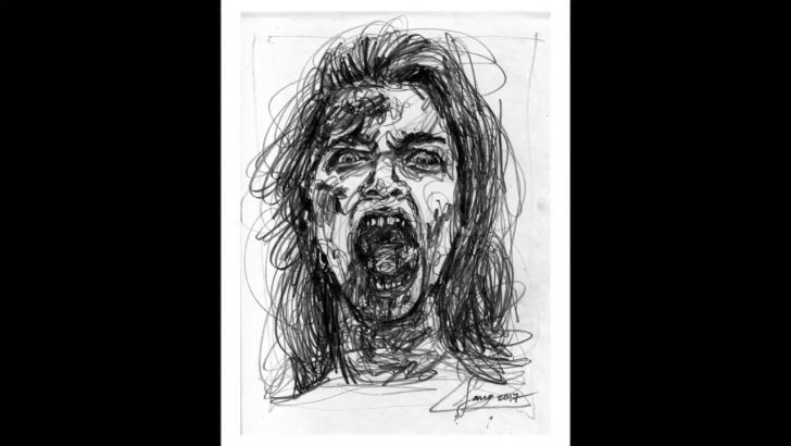 Wonderful Horror Pencil Sketches for Beginners Citidog | Horror Line - Pencil Drawing Picture