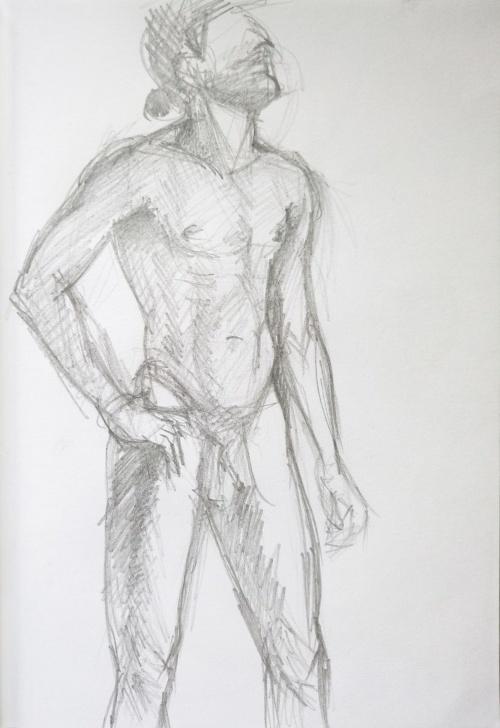 Wonderful Human Body Pencil Sketch Tutorials Sketch Of Human Body. Man 12 Pic