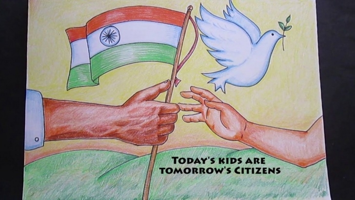 Wonderful Independence Day Pencil Sketch Easy Creative Drawing (Happy Republic Day ) | Art And Craft Zone Pictures