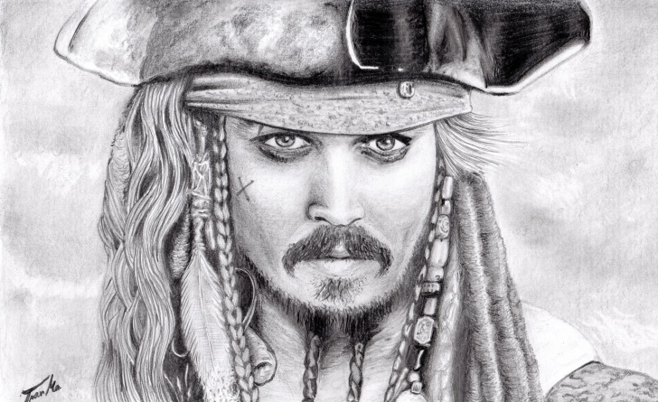 Wonderful Jack Sparrow Pencil Drawing Courses Jack Sparrow Pencil Portrait | Sketches | Pencil Portrait, Drawings Photo