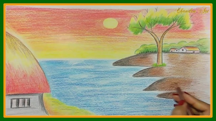 Wonderful Landscape Drawing For Beginners Easy Easy Landscape Drawing - How To Draw A Landscape, Kids Drawing, Drawing A  Beautiful Scenary Pics