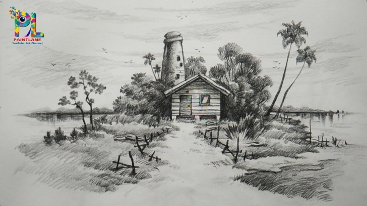 Wonderful Landscape Pencil Drawing Techniques for Beginners Landscape Simple Sketch At Paintingvalley | Explore Collection Photos