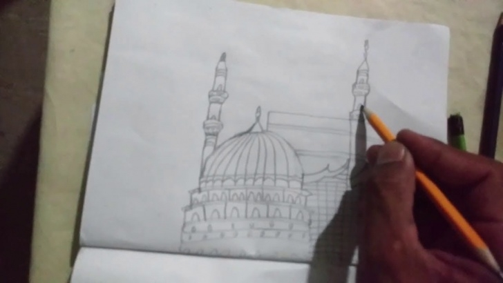 Wonderful Makka Madina Drawing for Beginners Makka Madina Drawing Easy Step | How To Draw Holy Kaaba Pics