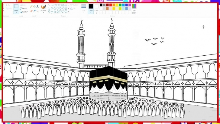Wonderful Makka Madina Drawing Step by Step How To Draw Kaaba, Makkah Madina | Learn By Art Images