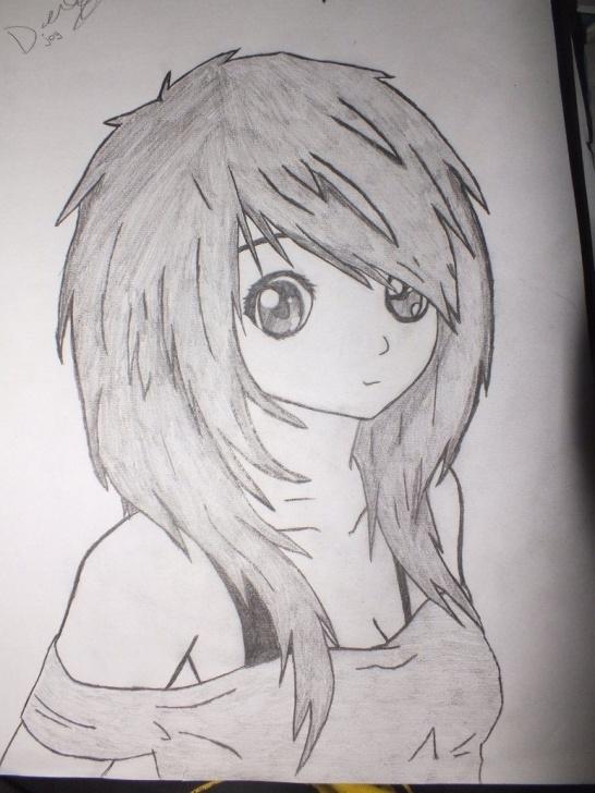 Wonderful Manga Pencil Drawings Step by Step Anime Girl | Depression Drawings | Anime Girl Drawings, Cute Girl Photo
