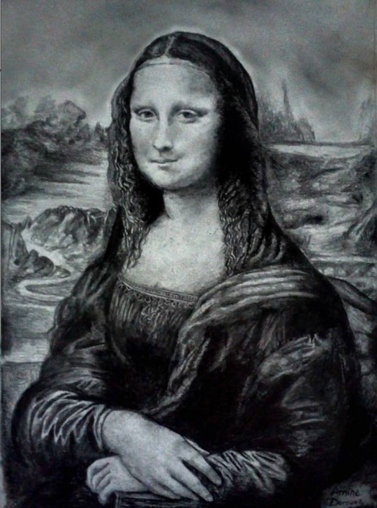 Wonderful Mona Lisa Pencil Drawing Courses Mona Lisa Pencil Drawing By Lamine Derouaz | Saatchi Art Image