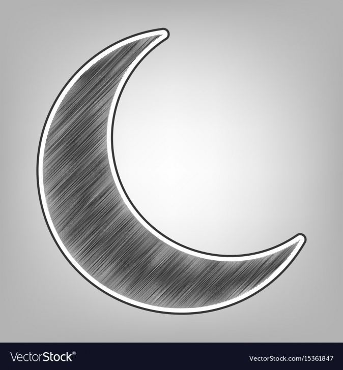Wonderful Moon Pencil Drawing Easy Moon Sign Pencil Sketch Image