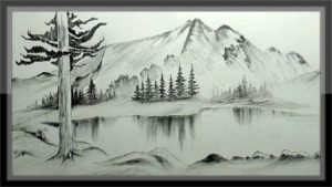 Wonderful Mountain Pencil Drawing Techniques Easy Pencil Drawing Mountain Landscape Scenery Step By Step Photos