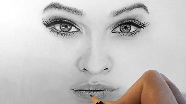 Wonderful Nose Pencil Drawing Lessons Drawing Realistic Eyes, Nose And Lips With Graphite Pencils | Emmy Kalia Picture