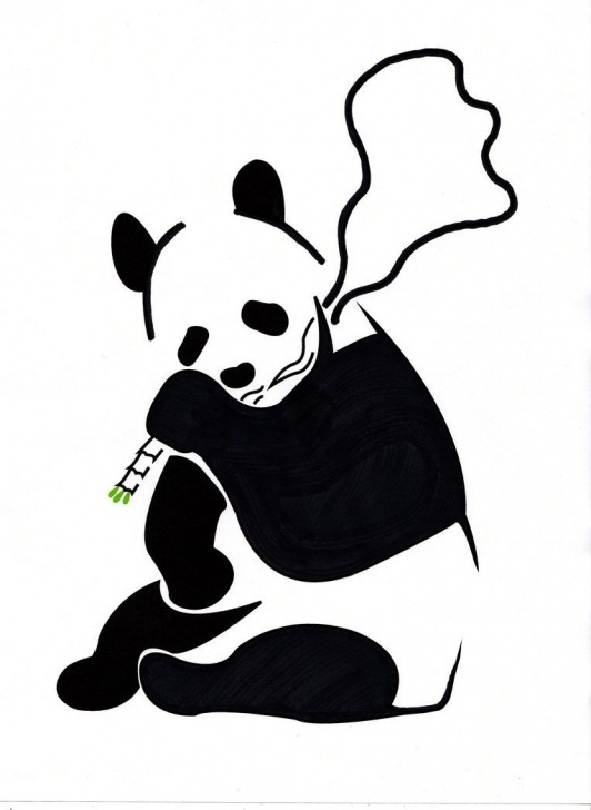 Wonderful Panda Stencil Art Techniques Panda Stencil - Banksy Inspired By Danfleming | Stencil Art | Panda Photos
