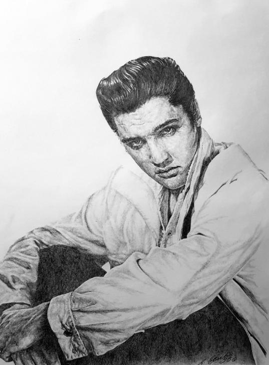Wonderful Pencil Drawing Of Elvis Presley Simple Elvis Presley In Pencil By Steven Streetin | Elvis=Levis | Pencil Pictures