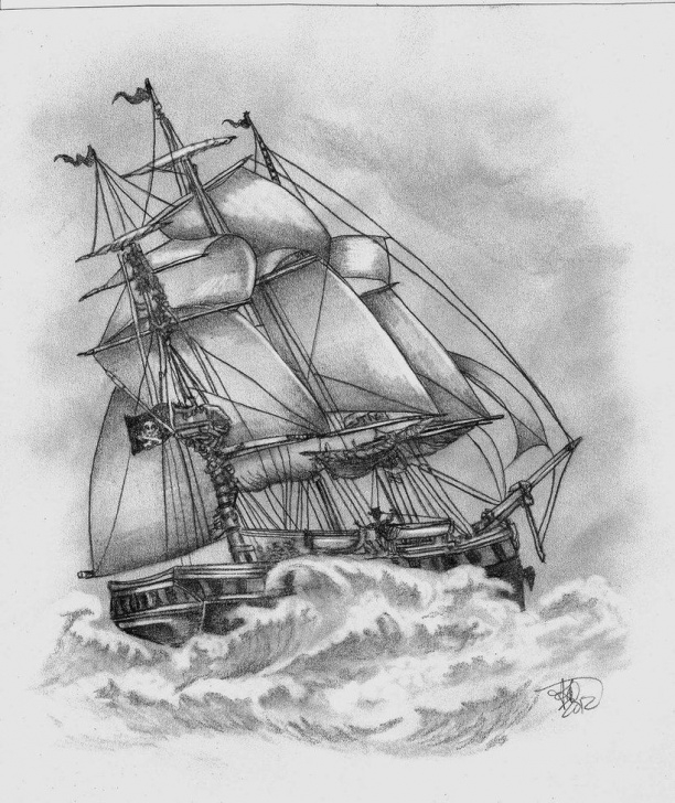 Wonderful Pencil Drawing Ship Simple Pirate Ship Pencil Drawing At Paintingvalley | Explore Picture