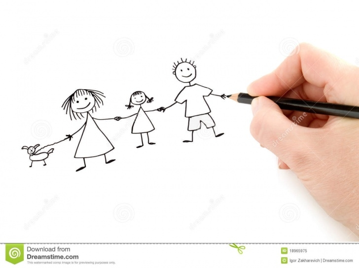 Wonderful Pencil Drawings Of Happy Family Easy Hand With Pencil Drawing Happy Family Stock Image - Image Of Paper Pic