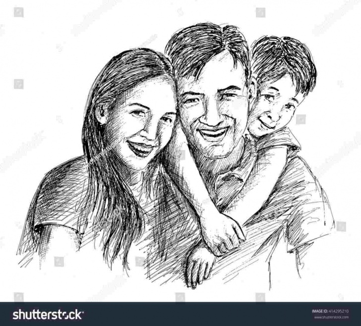 Wonderful Pencil Drawings Of Happy Family Free Pencil Drawings Of Happy Family - Gigantesdescalzos Images