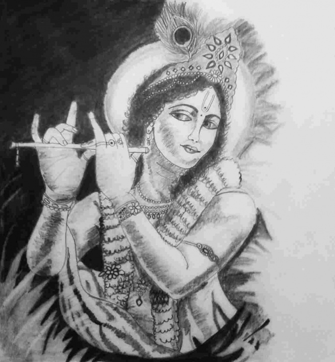 Wonderful Pencil Shade Drawing Of Krishna Simple Pencil Shading Pictures Of Lord Krishna Photos
