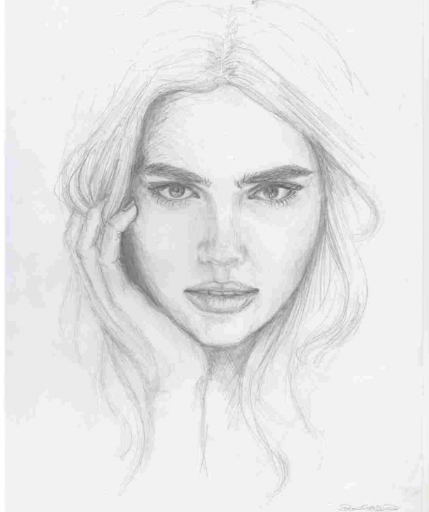 Wonderful Pencil Shading Face Free Pencil Shading Of Girl Face Image