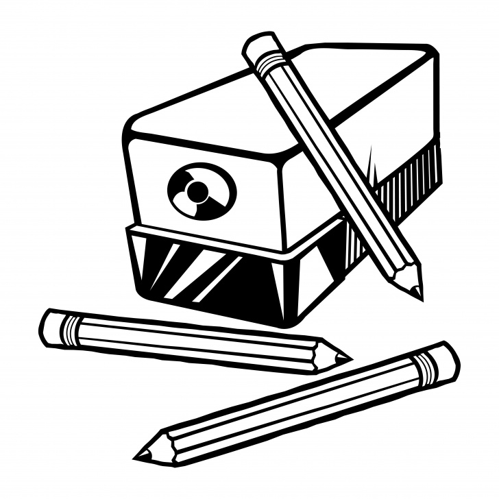 Wonderful Pencil Sharpener Drawing Ideas Vector Illustration Of An Electric Pencil Sharpener With Pencils Images